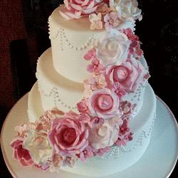 Hochzeitstorte Klassisch Rosa Pink Rosen Tortenmanufaktur Schatzle
