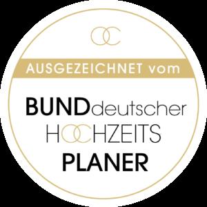 Auszeichnung vom Bund deutscher Hochzeitsplaner